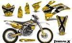 Yamaha WR 250 450 07 10 CreatorX Graphics Kit TribalX White Yellow NP Rims 150x90 - Yamaha WR450F 2007-2011 Graphics