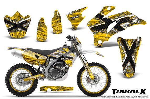 Yamaha WR 250 450 07 10 CreatorX Graphics Kit TribalX White Yellow NP Rims 570x376 - Yamaha WR450F 2007-2011 Graphics