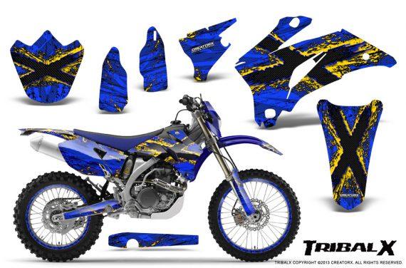 Yamaha WR 250 450 07 10 CreatorX Graphics Kit TribalX Yellow Blue NP Rims 570x376 - Yamaha WR450F 2007-2011 Graphics