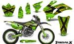 Yamaha WR 250 450 07 10 CreatorX Graphics Kit TribalX Yellow Green NP Rims 150x90 - Yamaha WR450F 2007-2011 Graphics