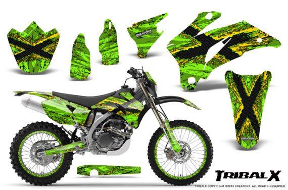 Yamaha WR 250 450 07 10 CreatorX Graphics Kit TribalX Yellow Green NP Rims 570x376 - Yamaha WR450F 2007-2011 Graphics