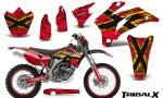 Yamaha WR 250 450 07 10 CreatorX Graphics Kit TribalX Yellow Red NP Rims 150x90 - Yamaha WR450F 2007-2011 Graphics