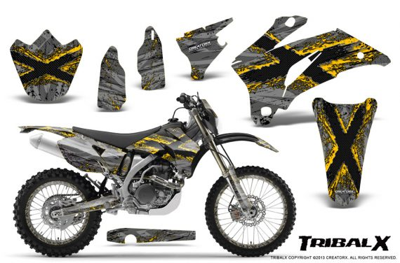 Yamaha WR 250 450 07 10 CreatorX Graphics Kit TribalX Yellow Silver NP Rims 570x376 - Yamaha WR450F 2007-2011 Graphics