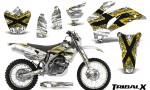 Yamaha WR 250 450 07 10 CreatorX Graphics Kit TribalX Yellow White NP Rims 150x90 - Yamaha WR450F 2007-2011 Graphics