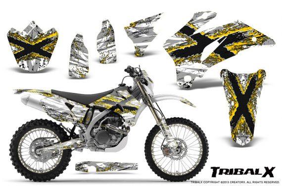 Yamaha WR 250 450 07 10 CreatorX Graphics Kit TribalX Yellow White NP Rims 570x376 - Yamaha WR450F 2007-2011 Graphics