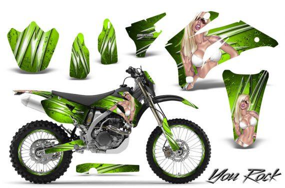 Yamaha WR 250 450 07 10 CreatorX Graphics Kit You Rock Green NP Rims 570x376 - Yamaha WR450F 2007-2011 Graphics