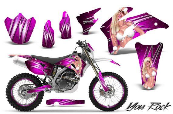 Yamaha WR 250 450 07 10 CreatorX Graphics Kit You Rock Pink NP Rims 570x376 - Yamaha WR450F 2007-2011 Graphics