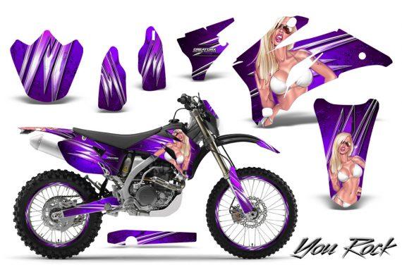Yamaha WR 250 450 07 10 CreatorX Graphics Kit You Rock Purple NP Rims 570x376 - Yamaha WR450F 2007-2011 Graphics
