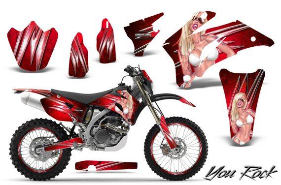 Yamaha WR 250 450 07 10 CreatorX Graphics Kit You Rock Red NP Rims 570x376 - Yamaha WR450F 2007-2011 Graphics