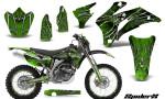 Yamaha WR 250 450 07 10 Graphics Kit SpiderX Green NP Rims 150x90 - Yamaha WR450F 2007-2011 Graphics
