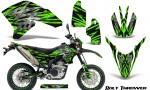 Yamaha WR250X R Graphics Kit Bolt Thrower Green NP Rims 150x90 - Yamaha WR250 R-X 2007-2019 Graphics