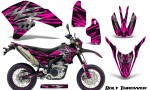 Yamaha WR250X R Graphics Kit Bolt Thrower Pink NP Rims 150x90 - Yamaha WR250 R-X 2007-2019 Graphics