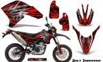 Yamaha WR250X R Graphics Kit Bolt Thrower Red NP Rims 150x90 - Yamaha WR250 R-X 2007-2019 Graphics