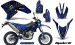 Yamaha WR250X R Graphics Kit SpiderX Blue NP Rims 150x90 - Yamaha WR250 R-X 2007-2019 Graphics