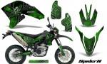 Yamaha WR250X R Graphics Kit SpiderX Green NP Rims 150x90 - Yamaha WR250 R-X 2007-2016 Graphics
