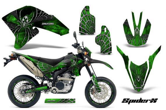 Yamaha WR250X R Graphics Kit SpiderX Green NP Rims 570x376 - Yamaha WR250 R-X 2007-2016 Graphics
