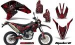 Yamaha WR250X R Graphics Kit SpiderX Red NP Rims 150x90 - Yamaha WR250 R-X 2007-2019 Graphics