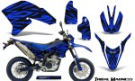 Yamaha WR250X R Graphics Kit Tribal Madness Blue NP Rims 150x90 - Yamaha WR250 R-X 2007-2019 Graphics