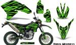 Yamaha WR250X R Graphics Kit Tribal Madness Green NP Rims 150x90 - Yamaha WR250 R-X 2007-2019 Graphics