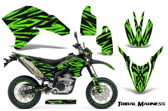 Yamaha WR250X R Graphics Kit Tribal Madness Green NP Rims 570x376 - Yamaha WR250 R-X 2007-2019 Graphics