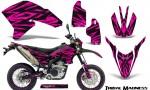 Yamaha WR250X R Graphics Kit Tribal Madness Pink NP Rims 150x90 - Yamaha WR250 R-X 2007-2019 Graphics