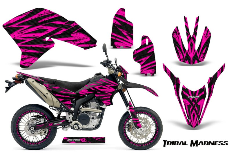Yamaha-WR250X-R-Graphics-Kit-Tribal-Madness-Pink-NP-Rims