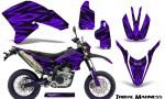 Yamaha WR250X R Graphics Kit Tribal Madness Purple NP Rims 150x90 - Yamaha WR250 R-X 2007-2019 Graphics