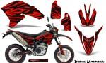 Yamaha WR250X R Graphics Kit Tribal Madness Red NP Rims 150x90 - Yamaha WR250 R-X 2007-2019 Graphics