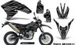 Yamaha WR250X R Graphics Kit Tribal Madness Silver NP Rims 150x90 - Yamaha WR250 R-X 2007-2019 Graphics