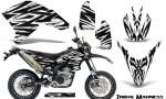 Yamaha WR250X R Graphics Kit Tribal Madness White NP Rims 150x90 - Yamaha WR250 R-X 2007-2019 Graphics