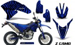 Yamaha WR250X R Graphics Kit ZCamo Blue NP 150x90 - Yamaha WR250 R-X 2007-2019 Graphics