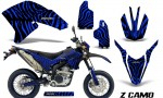 Yamaha WR250X R Graphics Kit ZCamo Blue NP Rims BB 150x90 - Yamaha WR250 R-X 2007-2016 Graphics