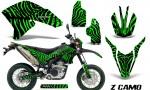 Yamaha WR250X R Graphics Kit ZCamo Green NP Rims 150x90 - Yamaha WR250 R-X 2007-2019 Graphics