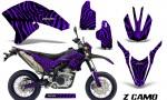 Yamaha WR250X R Graphics Kit ZCamo Purple NP Rims 150x90 - Yamaha WR250 R-X 2007-2016 Graphics