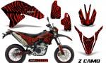 Yamaha WR250X R Graphics Kit ZCamo Red NP Rims 150x90 - Yamaha WR250 R-X 2007-2016 Graphics