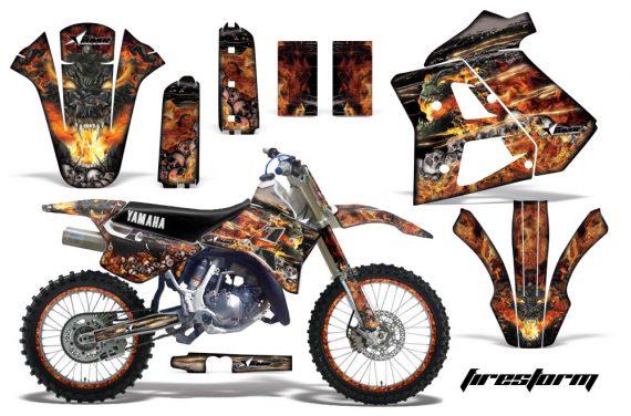 Yamaha WR250z 91 93 AMR Graphics Kit Decal Firestorm K NPs 570x376 - Yamaha WR250z 1991-1993 Graphics