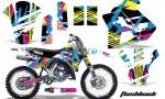 Yamaha WR250z 91 93 AMR Graphics Kit Decal Flashback NPs 150x90 - Yamaha WR250z 1991-1993 Graphics