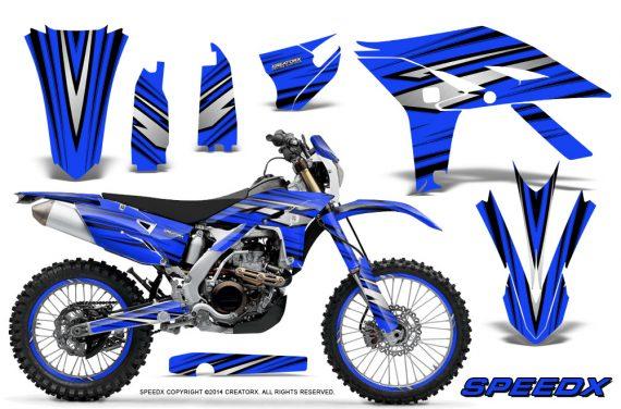 Yamaha WR450F 2012 2014 CreatorX Graphics Kit SpeedX Blue NP Rims 570x376 - Yamaha WR450F 2012-2014 Graphics