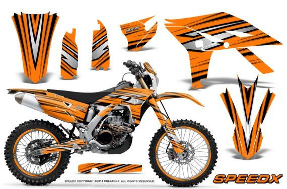 Yamaha WR450F 2012 2014 CreatorX Graphics Kit SpeedX Orange NP Rims 570x376 - Yamaha WR450F 2012-2014 Graphics
