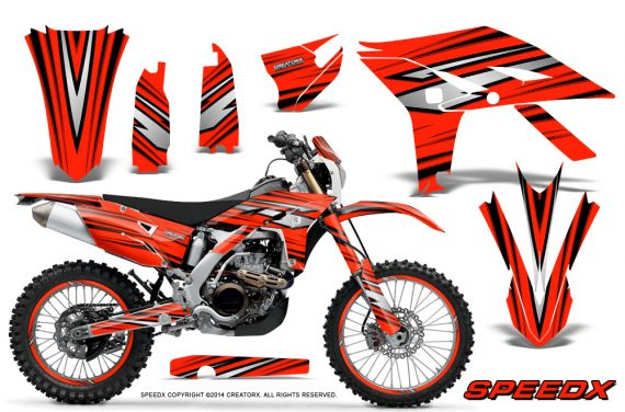 Yamaha WR450F 2012 2014 CreatorX Graphics Kit SpeedX Red NP Rims 570x376 - Yamaha WR450F 2012-2014 Graphics