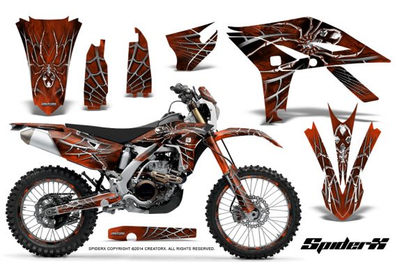Yamaha WR450F 2012 2014 CreatorX Graphics Kit SpiderX Orange NP Rims 570x376 - Yamaha WR450F 2012-2014 Graphics