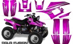 Yamaha Warrior 350 CreatorX Graphics Kit Cold Fusion Pink 150x90 - Yamaha Warrior 350 Graphics