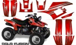 Yamaha Warrior 350 CreatorX Graphics Kit Cold Fusion Red BB 150x90 - Yamaha Warrior 350 Graphics