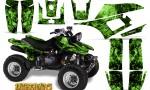Yamaha Warrior 350 CreatorX Graphics Kit Inferno Green 150x90 - Yamaha Warrior 350 Graphics