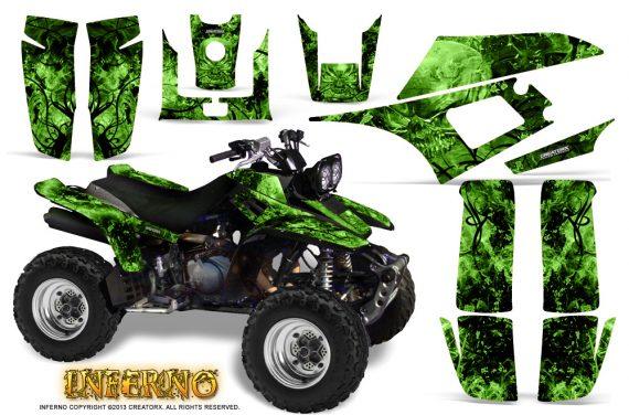 Yamaha Warrior 350 CreatorX Graphics Kit Inferno Green 570x376 - Yamaha Warrior 350 Graphics