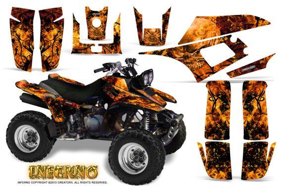 Yamaha Warrior 350 CreatorX Graphics Kit Inferno Orange 570x376 - Yamaha Warrior 350 Graphics