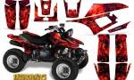 Yamaha Warrior 350 CreatorX Graphics Kit Inferno Red 150x90 - Yamaha Warrior 350 Graphics