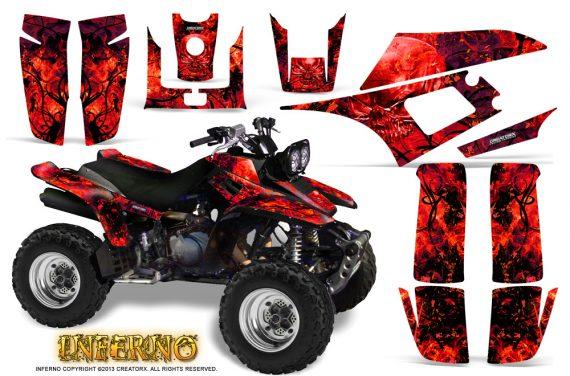 Yamaha Warrior 350 CreatorX Graphics Kit Inferno Red 570x376 - Yamaha Warrior 350 Graphics
