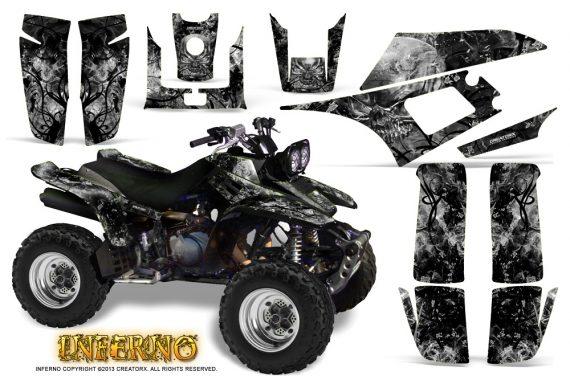 Yamaha Warrior 350 CreatorX Graphics Kit Inferno Silver 570x376 - Yamaha Warrior 350 Graphics