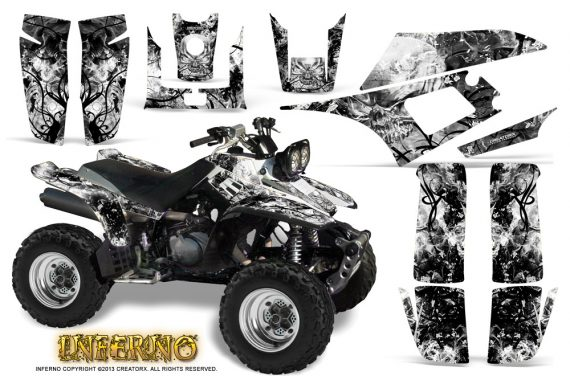 Yamaha Warrior 350 CreatorX Graphics Kit Inferno White 570x376 - Yamaha Warrior 350 Graphics